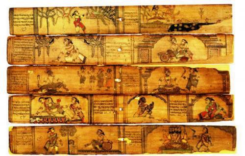 Sanskrit Of The Vedas Vs Modern Sanskrit: Palmleaf Manuscripts Section